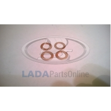 Lada Brake Hose Copper Gasket Kit 10mm - 4 Pcs